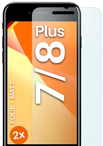 moex Schutzfolie matt kompatibel mit iPhone 7 Plus/iPhone 8 Plus - Folie gegen Reflexionen, Anti Reflex Displayschutz, Matte Displayfolie - 3X Stück