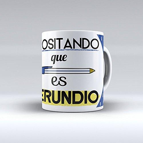 Taza cerámica desayuno regalo original Opositor oposiciones