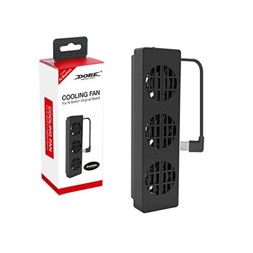 Ventilador de enfriamiento para mini juegos de Nintendo, receptor PS4 / PS5, 3 ventiladores de enfriamiento, reducen efectivamente la temperatura, el USB portátil tiene 3 modos de control de velocidad