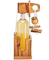Das Geschicklichkeitsspiel passt auf jede herkömmliche Weinflasche - Größe individuell verstellbar edler Look durch hochwertiges Holz Bebilderte Beschreibung, die das Denksiel in in einfachen Schritten erklärt inklusive. Der Holz-tresor ist ideal als...