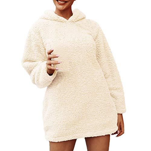 Komise Damen-warme Imitat-Pelz-Mantel-Jacken-Feste mit Kapuze Sweatshirt-Oberbekleidung