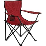 Arcoiris Silla de Camping, 4 Unidades, Silla de Acampada Plegable (Rojo, 4pack)