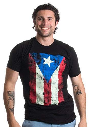 Puerto Rico Flag | Boricua, Nuyorican, Puerto Rican Pride Unisex T-Shirt-(Adult,3XL) Black