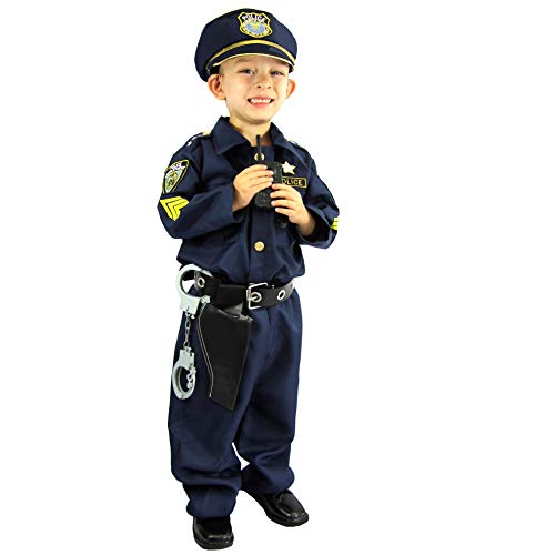 Joyin Toy Spooktacular Creations Deluxe Police Officer Costume and Role Play Kit (S 5-7)