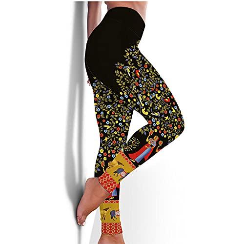 ArcherWlh Leggings Mujer,Nuevos Pantalones de Yoga Femenina Europea y Americana Medias rápidas Caderas Deportes Aptitud Pantalones 3D impresión de yoga-Yjck-19_S