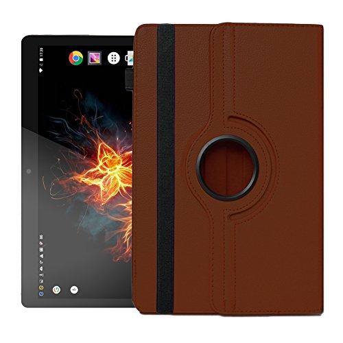 UC-Express Hülle für XORO TelePAD 96A3 Tablet Tasche Schutzhülle Universal Hülle Cover NAUCI, Farben:Braun