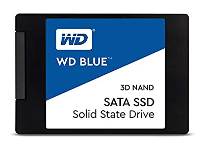 "Western Digital 1TB WD Blue 3D NAND Internal PC SSD - SATA III 6 Gb/s, 2.5""/7mm, Up to 560 MB/s - WDS100T2B0A"