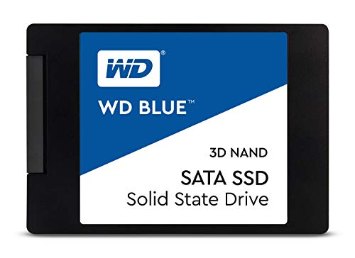WD Blue 3D NAND 250GB Internal PC SSD - SATA III 6 Gb/s, 2.5'/7mm, Up to 560 MB/s - WDS250G2B0A
