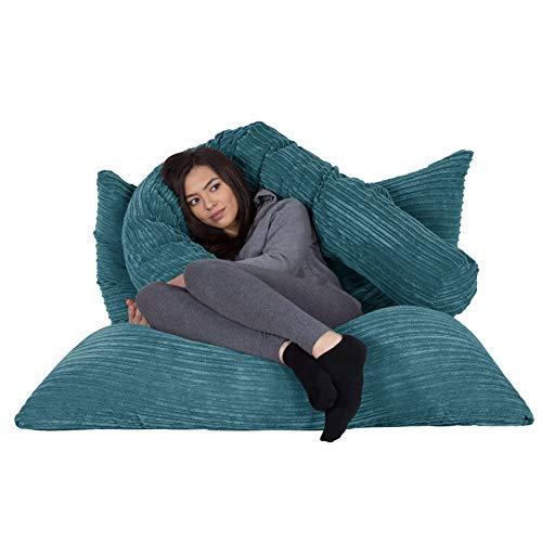 Lounge Pug®, Riesen Sitzsack XXL, Sitzkissen, Cord Türkis