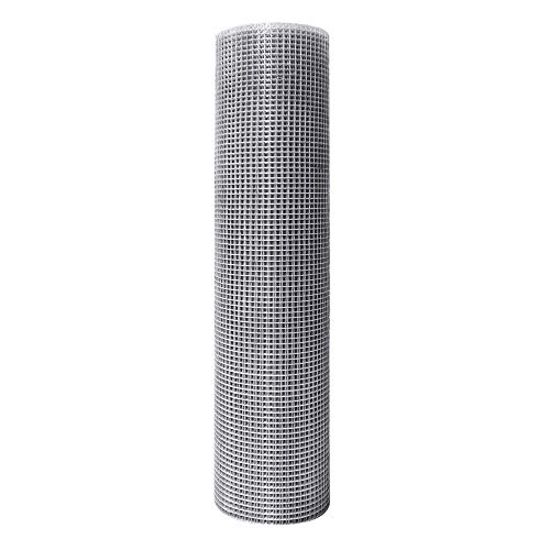 iMeshbean Hardware Cloth 24-Inch x 50-Foot,1/4 inch in Mesh, Silver Galvanized Welded Cage Wire 23 Gauge Fence Mesh Roll Garden Plant for Poultry Netting Square Chicken Wire Snake Fencing etc
