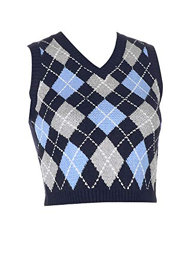 Women 's Y2K V Neck Sweater Vest...