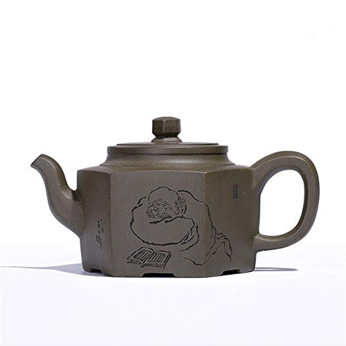 Teapot Yixing Teapot Ore Qingni Day Of Six-party Party Goods Maker Of Hand – Confucianism Classic Tea Set (Color : Azure mud)