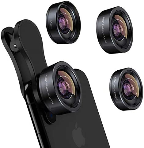 iPhone Camera Lens 3 in 1 Phone Lens Kit 198 Fisheye Lens 120 Super Wide Angle Lens 20x Macro product image
