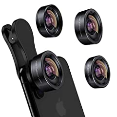 【3 in 1 Phone Camera Lens Set】Every lens can be used separately, you don't have to install one to another one. The 20X Macro lens has a best focusing distance of 1.18-3.54 inch, help you to explore the microworld. 120° Wide lens can expand the shooti...