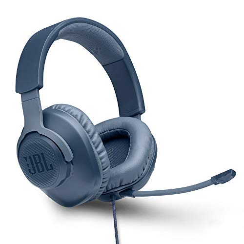 JBL Quantum 100 by Harman Wired Over-Ear Gaming Headset with Detachable Mic for PC, Mobile, Laptop, PS4, Xbox, Nintendo Switch, VR (Blue)