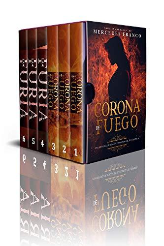(6 Libros En 1) Corona de Fuego & La Furia y El Poder De Las Sombras: Colección De Vampiros En Español. Libros de Novelas de Vampiros. Las mejores historias de Suspenso, Romance y Fantasía Paranormal
