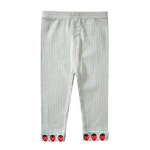 Moneycom (1Y-6Y Bebé Niños Niñas Estampado Fresa Pantalones Leggings Ropa Algodón Mezcla Verde verde menta 3-4 Años