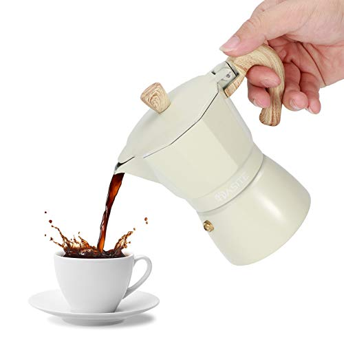Cafetera, cafetera, tetera octogonal de aluminio para cafetera, tetera Moka para cafetería casera(150ml)