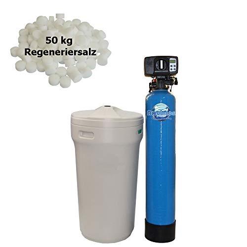 Wasserenthärter MEB 60 - anschlussfertiges KOMPLETTSET | Entkalkungsanlage/Enthärtungsanlage inklusive Bypassventil | Wasserenthärtungsanlage