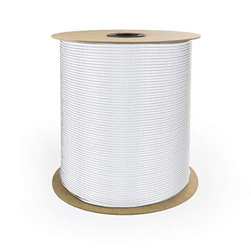 DQ-PP POLYPROPYLENSEIL | 6mm | 50m | WEISS Polypropylen Seil | Tauwerk PP Flechtleine Textilseil Reepschnur Leine Schnur Festmacher Rope Kordel Kunststoffseil Kletterseil geflochten