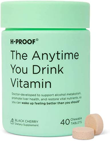 H PROOF Patent Pending Chewable Vitamin for Alcohol Metabolism Liver Health and Immunity Support product image