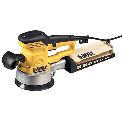 DeWalt Exzenterschleifer / Schleifgerät (400 Watt, 150 mm, elektronischer Sanftanlauf, Staubabsaugung, Klettfix-System), D26410