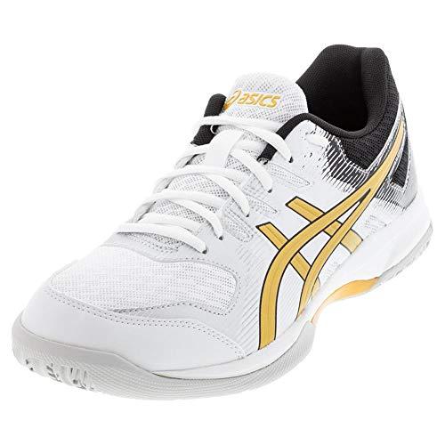 ASICS Zapatillas de voleibol Gel-Rocket 9 para hombre, blanco (Blanco/Oro puro.), 42 EU