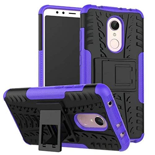 Max Power Digital Funda para Xiaomi Redmi 5 con Pata Trasera 2en1 Heavy Duty Híbrida Rugged Armor Case Carcasa antigolpes con Pata Trasera Morado (Redmi 5, Morado)