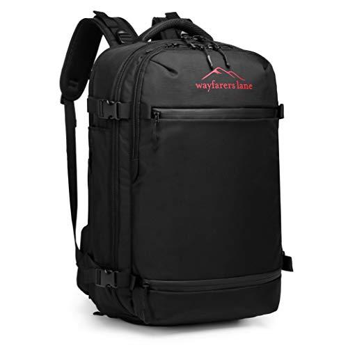 wayfarers lane Carrier - Handgepäck Reise-Rucksack mit 5 Packing Cubes, Falt-Rucksack und Powerbank Fach - geeignet als Flugzeug Boardgepäck – ergonomisch, wasserabweisend