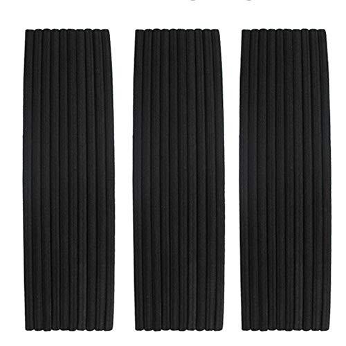 Charlotte 30Pcs Thin Elastic Headbands Sweatband for Men and Women No Metal Ouchless Hair Flat Narrow Headwrap(Thin 5mm, Black)