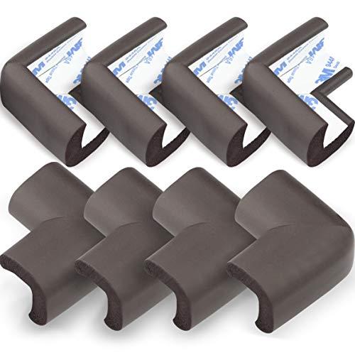 Protectores Para Esquinas y Bordes (8 Piezas) - Kit de Seguridad Para Bebes y Niños. Fácil Instalación Con Adhesivo Original 3M