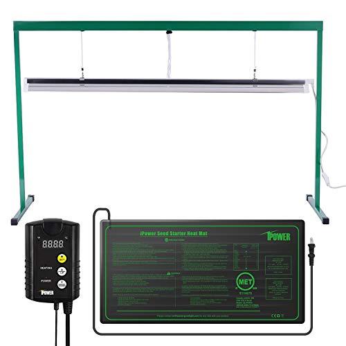 iPower 54W 4 Feet T5 Fluorescent Grow Light Stand Rack