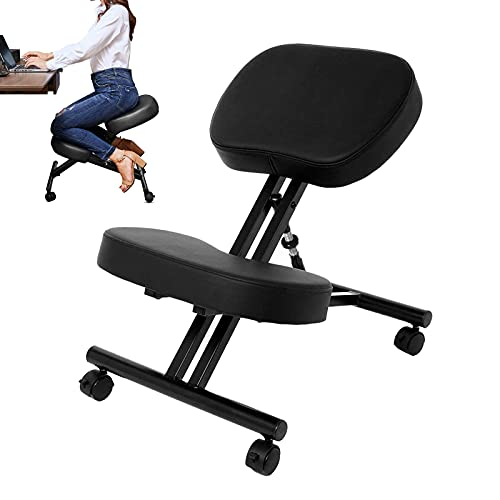Himimi Sedia ergonomica inginocchiata,Sedia ergonomica e Regolabile per la casa e L'Ufficio