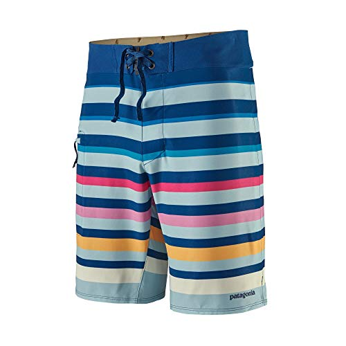 Patagonia M's Stretch Planing Boardshorts-19 In. Shorts, Herren, Sunset Ombre: Big Sky Blue, 34