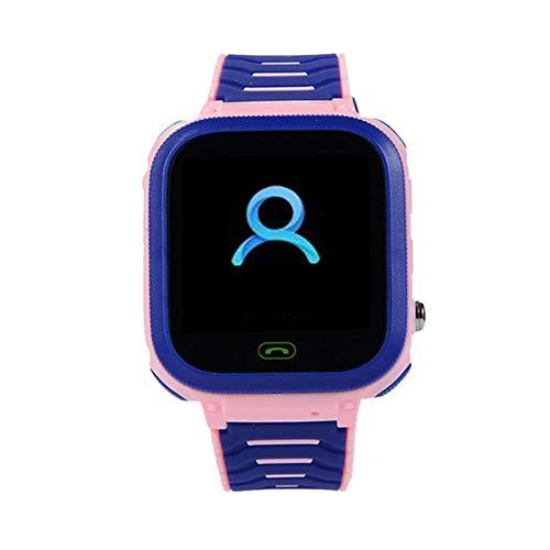 happygirr T18 Kids Smartwatch, GPS Locator, Kinder-Smart-Uhr, Smart Phone Watch, Kamera-Uhr, Pas, Wecker, Umweltmaterial, Smart Watch Phone para Schulkinder de 3-14 años, Rosa,