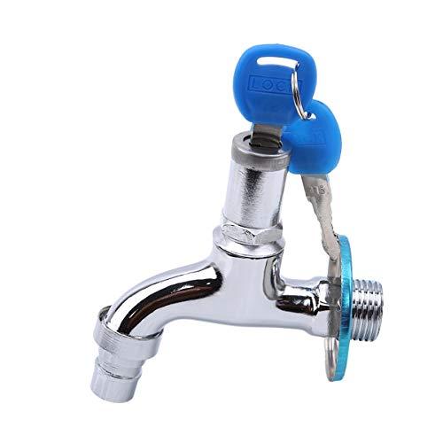 Beiswin Anti-Theft Sinken Wasserhahn Mit Schlossschlüssel Einzigen Griff Abschließbar Haushalt Waschen Wasserhahn Für Outdoor