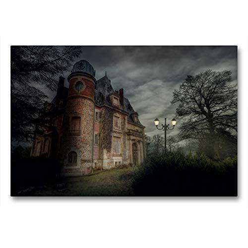 CALVENDO Premium Textil-Leinwand 90 x 60 cm Quer-Format Chateau des F, Frankreich, Leinwanddruck von Eleonore Swierczyna