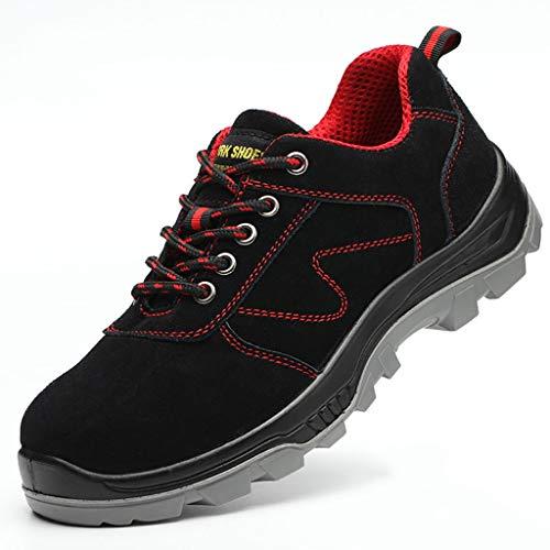 Sicherheitsschuhe Anti-Smashing und pannensichere Sicherheitsschuhe, Arbeitsschuhe für Männer, Schweißer alte atmungsaktive und desodorierende elektrische Schuhe, leichte, verschleißfeste Lederschuhe