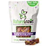Nature Gnaws Braided Bully Stick Bites for Small Dogs - Premium...