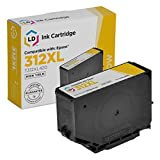 LD Remanufactured Ink Cartridge Replacement for Epson 312XL T312XL420 High Yield (Yellow)