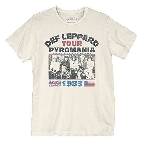 Def Leppard Pyromania Tour T-Shirt (Small) Cream