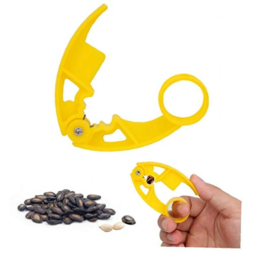 AMOYER Plastic Nutcracker Nut Pistachio Sunflower Seeds Peeler Walnut Pine Sheller Opener Melon Seed Plier Clamp Nut Clip