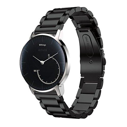 XiHAMA assistir bandas 20 aço inoxidável mm Assista bracelete Banda pulseira universais para relógio para peças MOTO360 2 nd Fato, 42 mm, engrenagem S2 Classic, Ticwatch na 2, 40 mm WiThings HR Watch, Huawei WATCH2