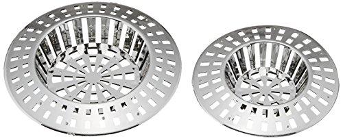 WENKO Abfluss-Sieb 2er Set - 2er Set, Kunststoff, 6 x 6 cm, Chrom