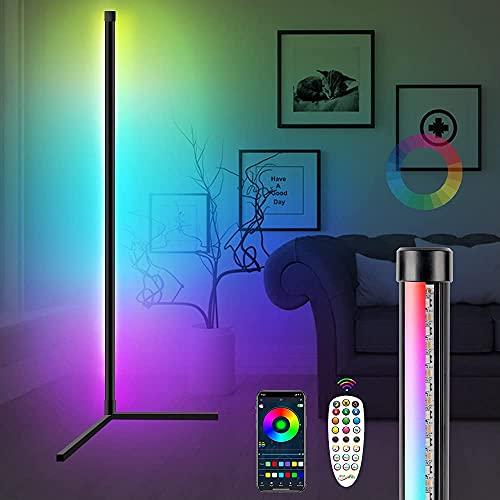 Martiount Lámpara de Pie Moderna Lampara de Pie Regulable LED RGB Luces de Pie Minimalista Lámpara de Esquina Nordico con Control Remoto & Control APP para Salón, Dormitorio
