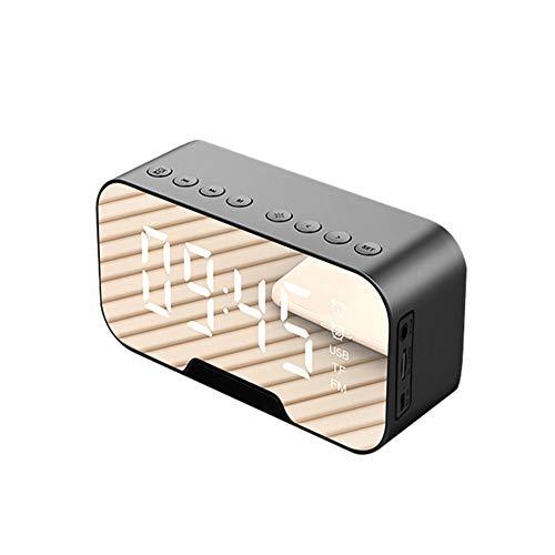 LSS Drahtloser Wecker Subwoofer, Atomic Digital Wanduhr, einstellbare Helligkeit, HD Wireless Call, Geeignet für Reisebüros im Freien