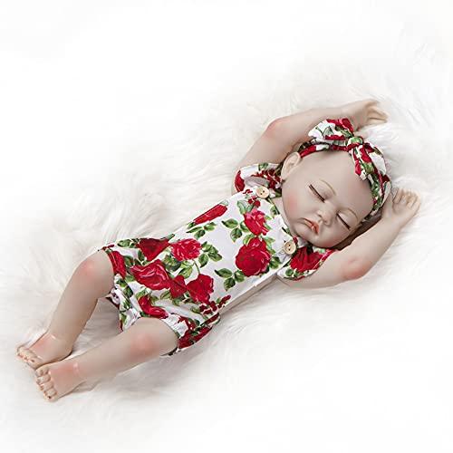 CCHM 20 '' Muñecas De Renacimiento Realistas, Soft Silicone Realista Recién Nacido Bebé Muñecas, Muñeca De Crianza De Bebé Hecho A Mano Buen