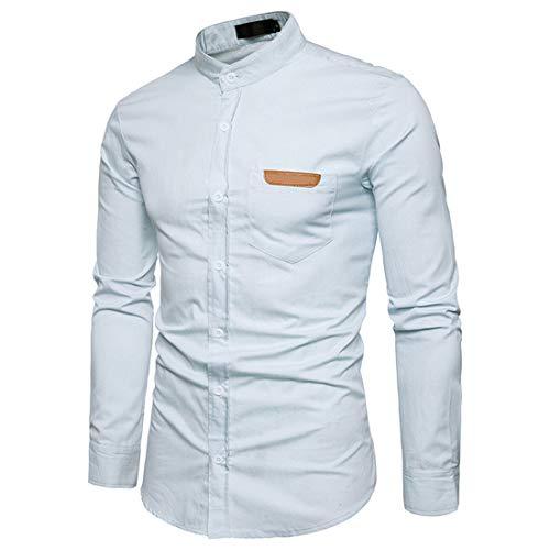 JELLYB Camisa de los hombres de negocios Camisa Slim Fit Moda Botón de Manga Larga Primavera y Otoño Elegante y Cómodo Casual Boda Fiesta Trabajo Clásico Hombres Camisa
