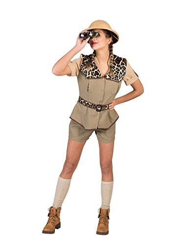 Kostüm Safari Dame Judy Größe 40/42/Leopardenmuster Entdecker Damenkostüm Afrika Forscherkostüm Karneval Fasching Pierro's