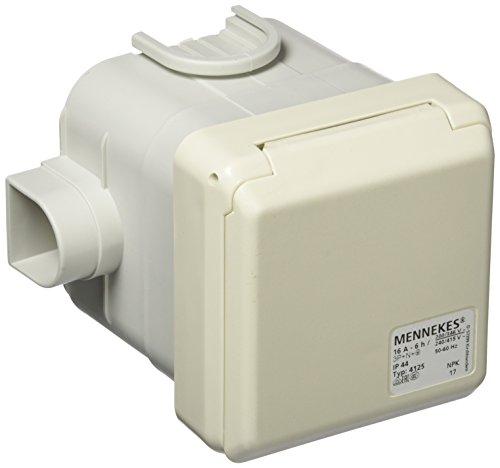 Mennekes 101100357 Basen in System cepex-th, Steckdosen CEE, 400 V, 50–60 Hz, 16 A, 5-polig, IP 44, 1 Stück